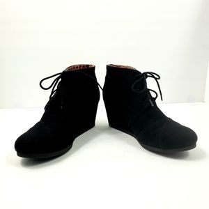 Soda Canvas Wedge Ankle Booties